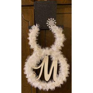 "Monogram ""M"" Snowman Decor"